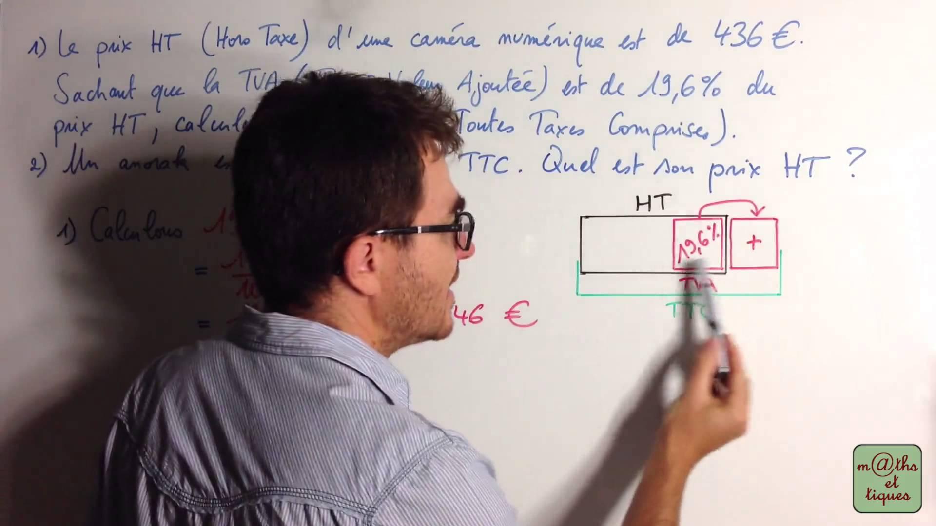 Quelques précisions sur le calcul de la TVA