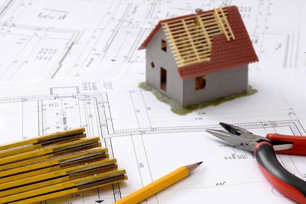 Plan d'une maison en rénovation